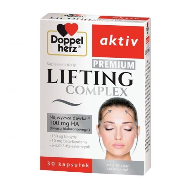 Doppelherz Aktiv, Lifting Complex Premium , подтягивающий  комплекс с гиалуроновой кислотой, витаминами 30 кап