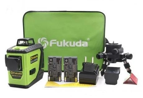✷ЗЕЛЕНЫЙ ЛУЧ✷✷Лазерный уровень (нивелир) Fukuda MW-93T-2-3GJ>> 2 Аккумулятора В КОМПЛЕКТЕ
