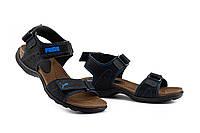 Подростковые сандалии кожаные летние синие Monster Tracking П-син, фото 1