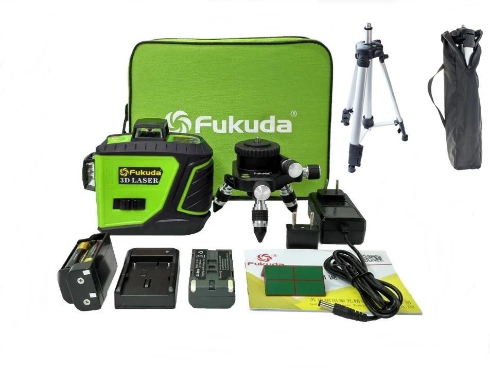 ✷ЗЕЛЕНЫЙ ЛУЧ✷✷Лазерный уровень (нивелир) Fukuda MW-93T-2-3GJ>> ШТАТИВ В ПОДАРОК
