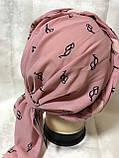 Летняя  бандана-шапка-косынка-тюрбан с объёмной драпировкой  бирюзовая, фото 2