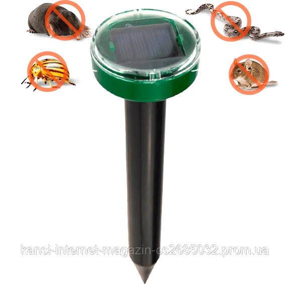 Отпугиватель грызунов кротов и насекомых на солнечной батареи Garden Pro