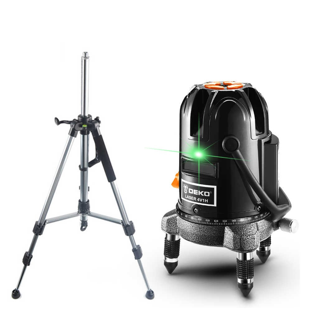 Лазерний рівень нівелір ✦DEKO DKLL57g ✦green промінь 50 метрів ♦ШТАТИВ В ПОДАРУНОК♦