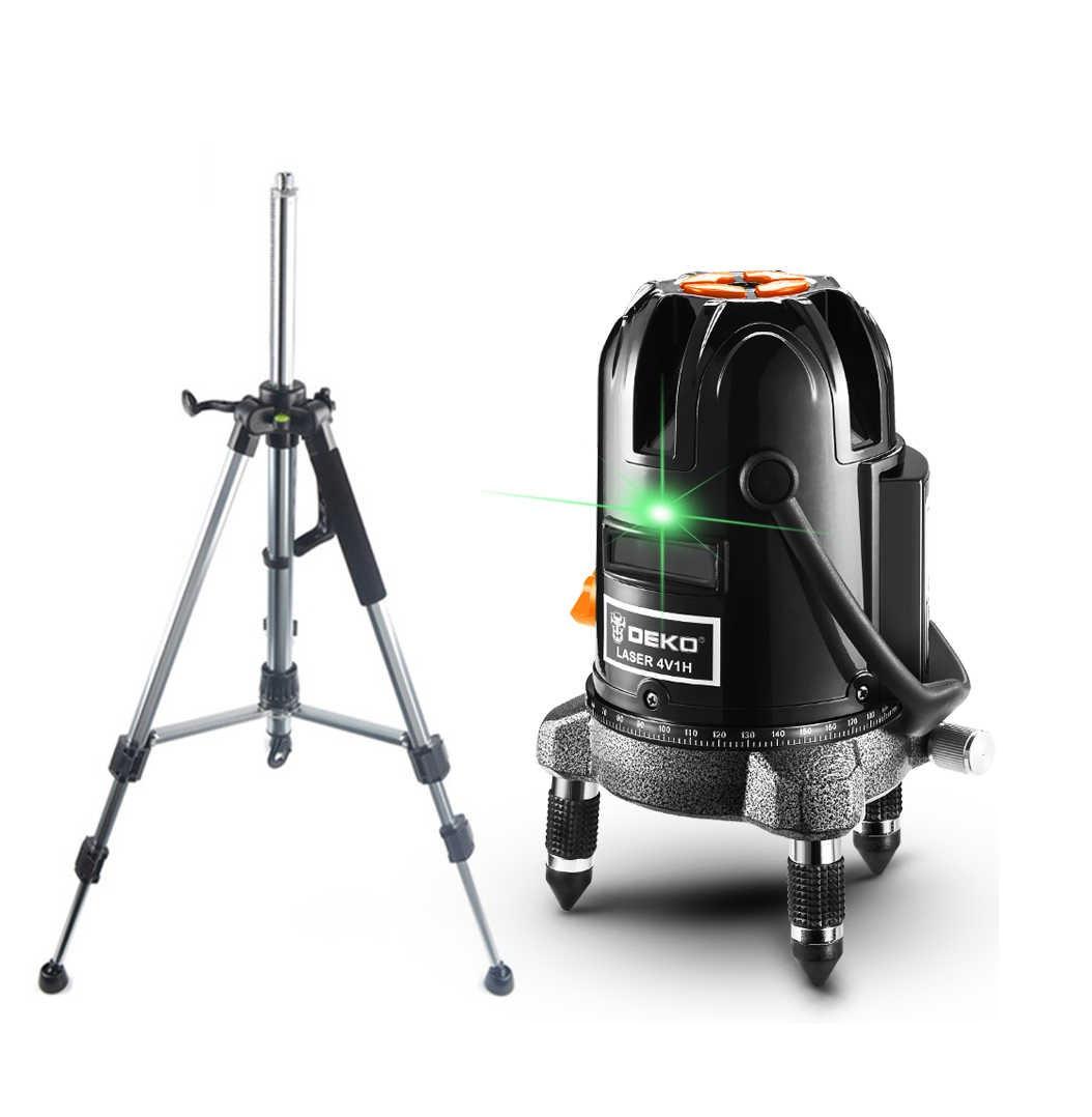 Лазерный уровень, нивелир ✦DEKO DKLL57g ✦green луч 50 метров ♦ШТАТИВ В ПОДАРОК♦