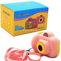 Интерактивная игрушка фотоаппарат детский c играми, розовый (A012)