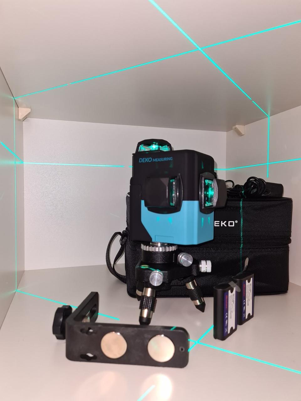 ✷ОТКАЛИБРОВАН В 0мм✷50м✷Лазерный нивелир DEKO 3D green+КРОНШТЕЙН- аналог Bosch gll 380g