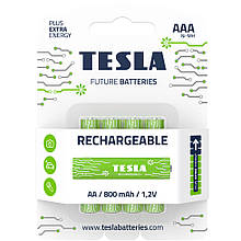 Аккумуляторы TESLA AAA 800 мАч Rechargeable+ 4шт.