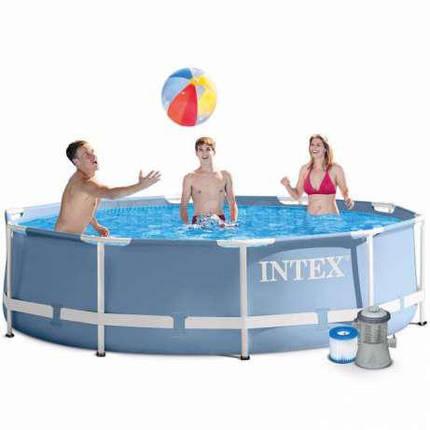 Бассейн каркасный Интекс Intex 26702 (305х76 см) с фильтр-насосом, фото 2