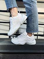 Стильные кроссовки Nike M2K Tekno White женские (Найк М2К Текно белые)