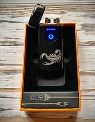 Зажигалка USB Graving 2EI Black Sensor
