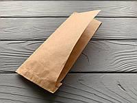 Бумажный уголок под хот-дог 230х85, бурый крафт, 40г/м2 1000шт/уп