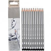 Набор карандашей чернографитных Marco Raffine 2В 12шт. 3,7мм 7000 / 12-2В 7000/12-2В