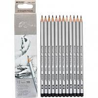 Набор карандашей чернографитных Marco Raffine 3В 12шт. 3,7мм 7000 / 12-3В 7000/12-3В