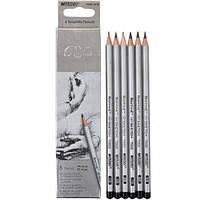Набор карандашей чернографитных Marco Raffine HB-8B 6 штук 7000 / 6HB 7000/6HB