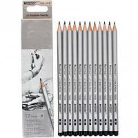 Набор карандашей чернографитных Marco Raffine В 12шт. 3,7мм 7000/12-В