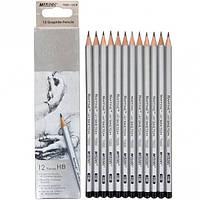 Набор карандашей чернографитных Marco Raffine НВ 12шт. 3,7мм 7000/12-HВ