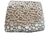 Шикарное Меховое покрывало бежево-золотистое  220-240 см.