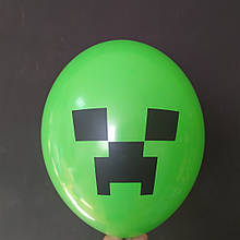 "Латексный шар с рисунком Minecraft майнкрафт зеленый 014 12 ""30см Belbal ТМ"" Star """