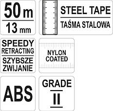 Лента измерительная 50 м Yato Yt-71582, фото 2