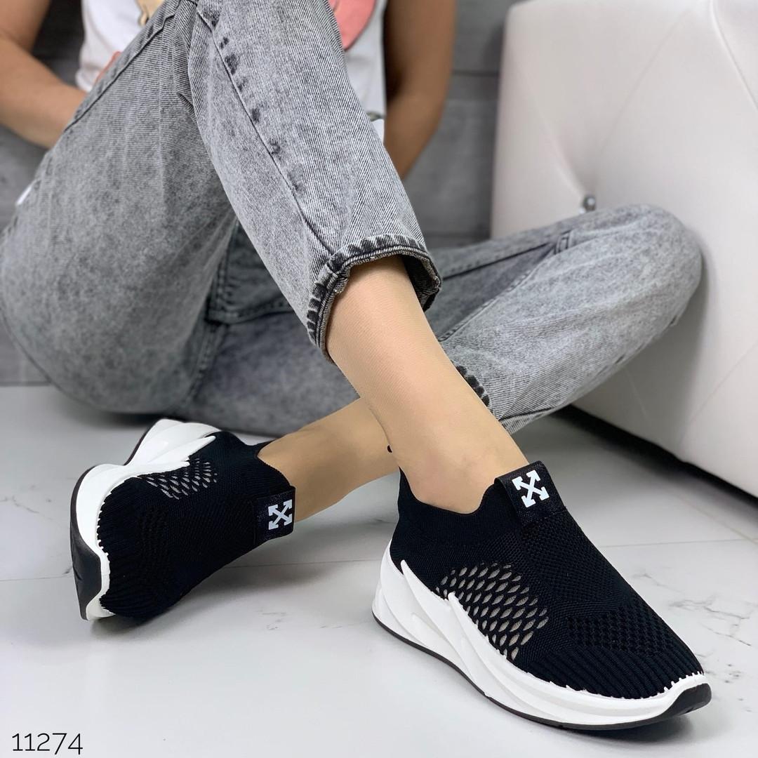 Женские кроссовки на платформе, текстильные, хит сезона, ОВЛ 11274