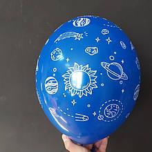 """Латексный шар рисунком Космос прозрачный кристалл 038 12 """"30см Belbal ТМ"""" Star """""""