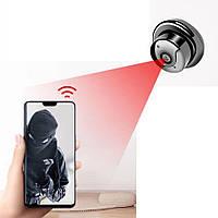 Охранная мини Wi-Fi  IP-камера Sdeter mini V380 lighting. 1080 P. Ночное видение. IR. Датчик движения. V380