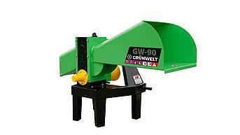 Измельчитель веток GrunWelt GW-90-4 (70 мм, 4 ножа, ВОМ, 10 л.с.)