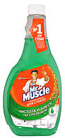 Mr Muscle средство для мытья стекол Утренняя роса 500 мл запаска