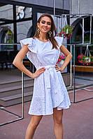 Летнее белое платье из прошвы Мегги, фото 1