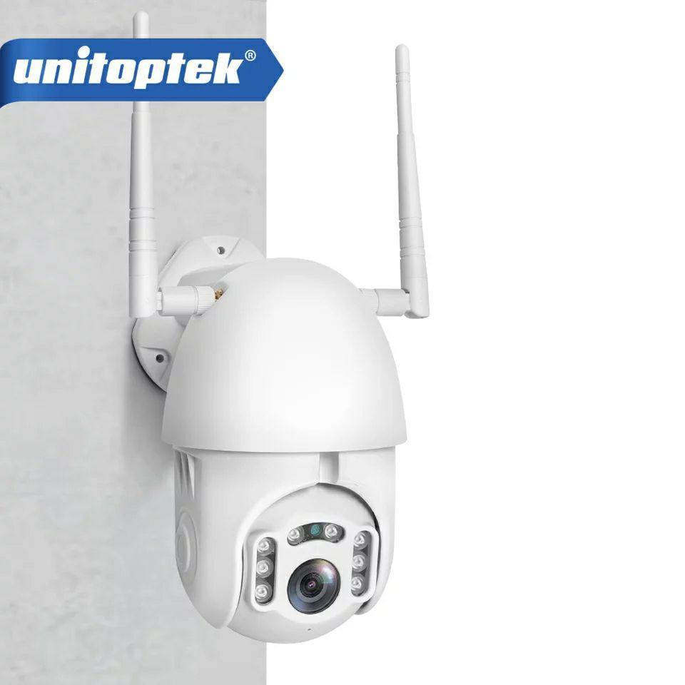 Внешняя поворотная IP WiFi камера Unitoptek XMW-N02  1080P Onvif.  iCSee
