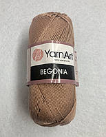 Пряжа Begonia 50гр - 169м (15 Светло-коричневый) YarnArt