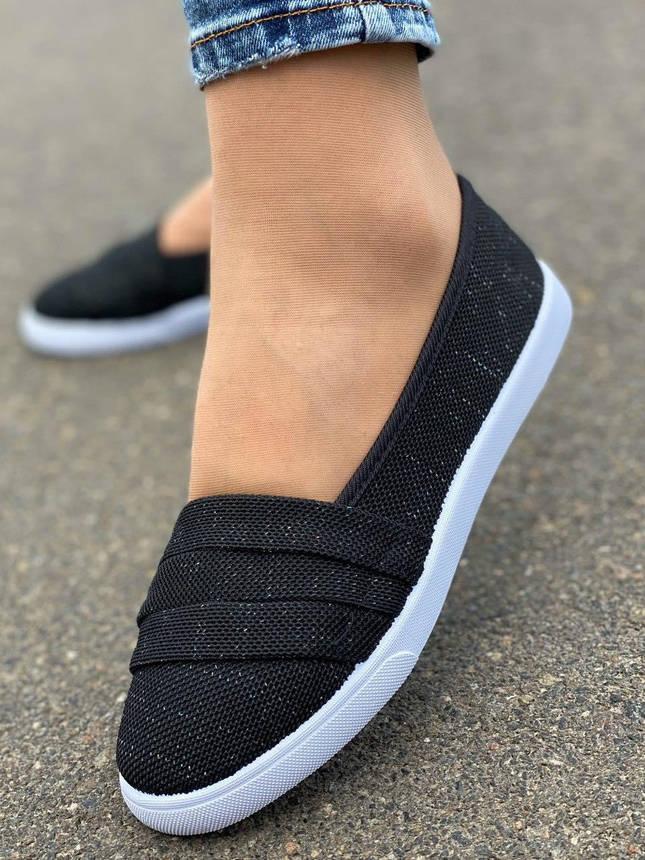 Кросівки жіночі 10 пар в ящику чорного кольору 36-41, фото 2