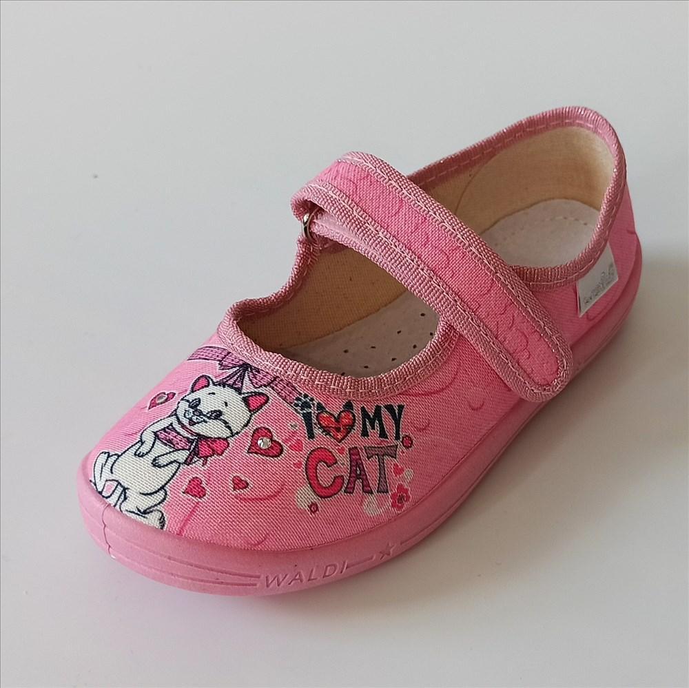 Тапочки рожеві з котиком, Waldi розміри: 29