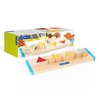 Сортер детская игрушка из дерева развивающая Guidecraft Manipulatives Треугольники, 11 деталей