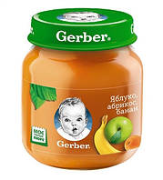 Фруктове пюре Gerber Яблуко, абрикос, банан, 130 г