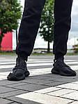 Мужские кроссовки Adidas Yeezy Boost Black 421TP, фото 3