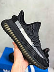 Мужские кроссовки Adidas Yeezy Boost Black 421TP, фото 6