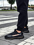 Мужские кроссовки Adidas Yeezy Boost Black 421TP, фото 5