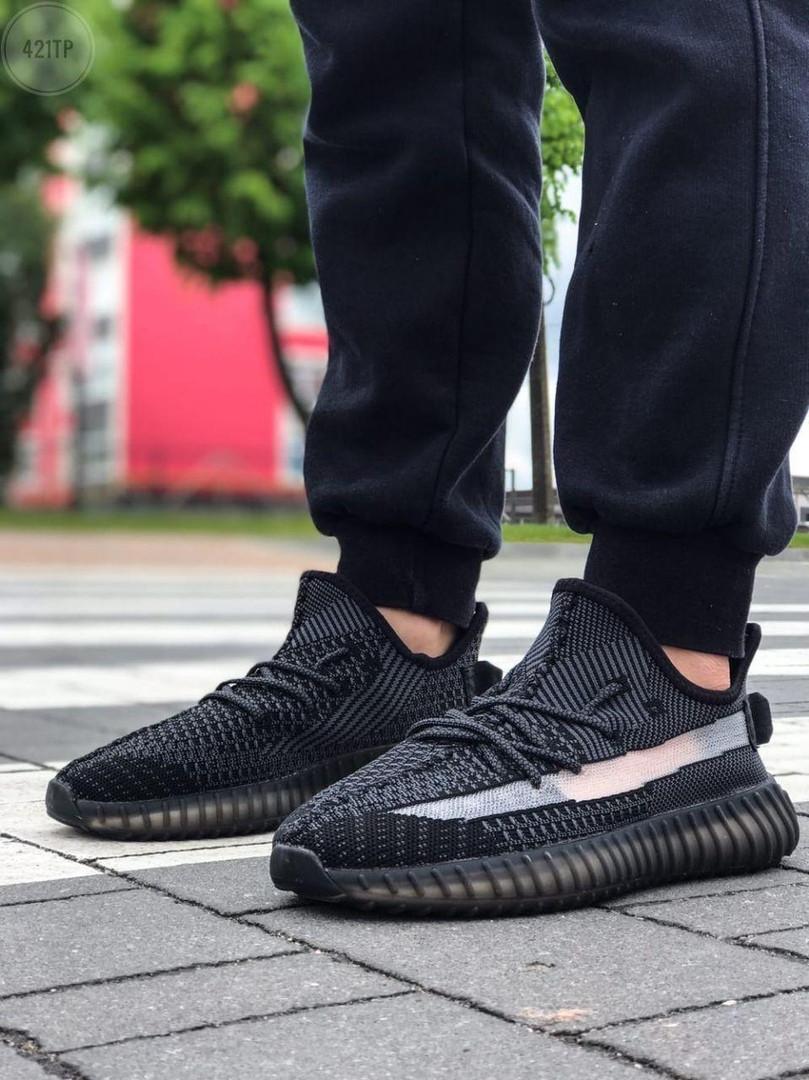 Мужские кроссовки Adidas Yeezy Boost Black 421TP