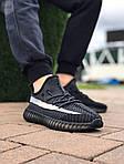 Мужские кроссовки Adidas Yeezy Boost Black 421TP, фото 7