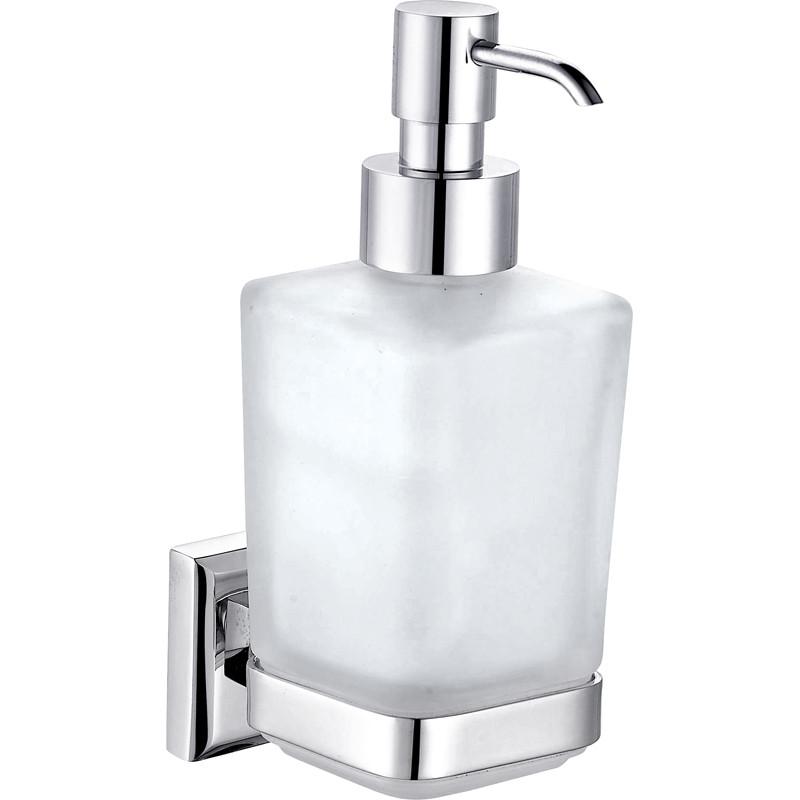 9933A- Дозатор жидкого мыла навесной стекло  Латунь