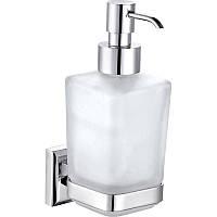 9933A- Дозатор жидкого мыла навесной стекло  Латунь, фото 1