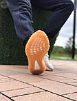 Мужские кроссовки Adidas Yeezy Boost Grey/Orange 422TP, фото 2