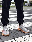 Мужские кроссовки Adidas Yeezy Boost Grey/Orange 422TP, фото 3