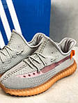 Чоловічі кросівки Adidas Yeezy Boost Grey/Orange 422TP, фото 4