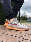 Мужские кроссовки Adidas Yeezy Boost Grey/Orange 422TP, фото 6