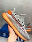 Мужские кроссовки Adidas Yeezy Boost Grey/Orange 422TP, фото 5