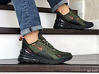 Мужские кроссовки в стиле Nike Air Max 270, сетка, зеленые с черным 43(27,5 см), последний размер