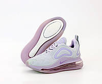 Женские кроссовки Nike Air Max 720 серые с розовым, фото 1