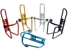 Крепление фляги / флягодержатель вело алюминиевый / алю с пластиковыми заглушками для фиксации / от царапин